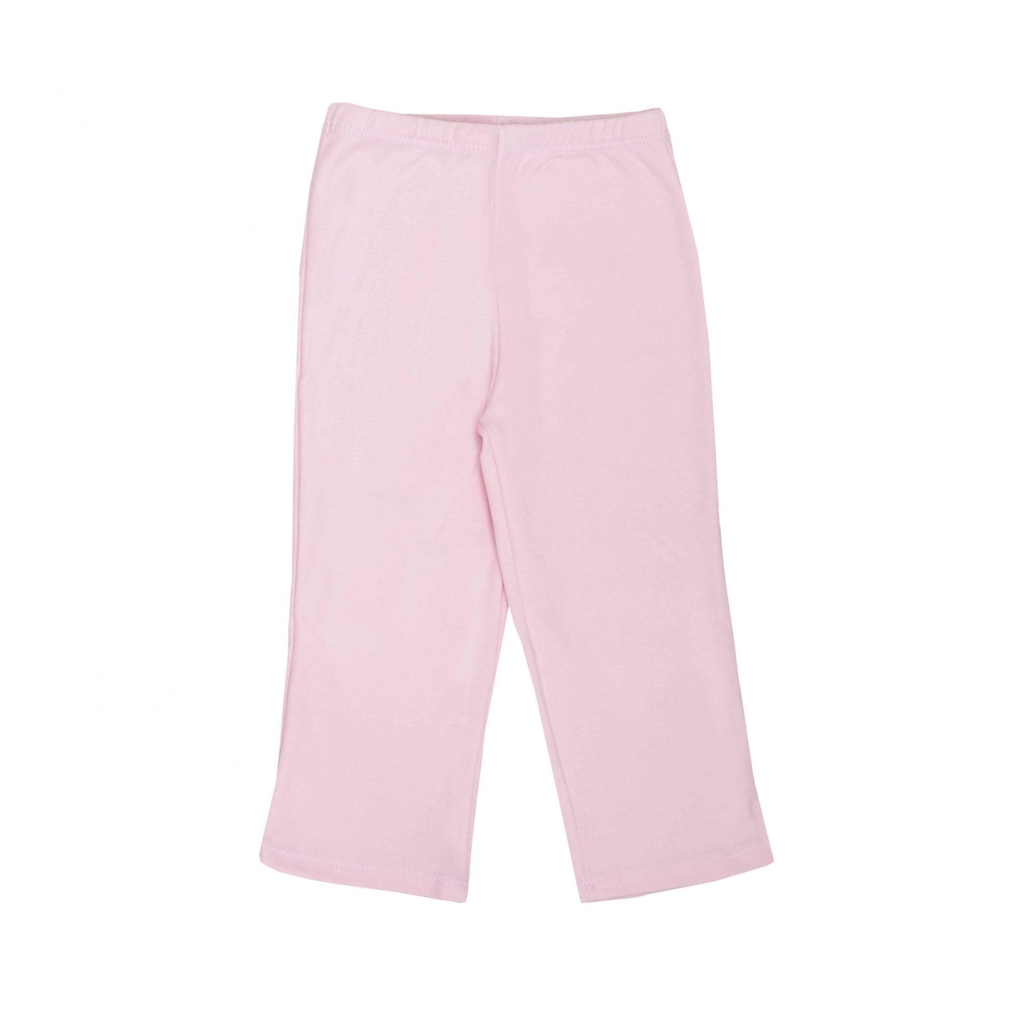 Kit Pijama Camiseta Manga Longa e Calça Rosa