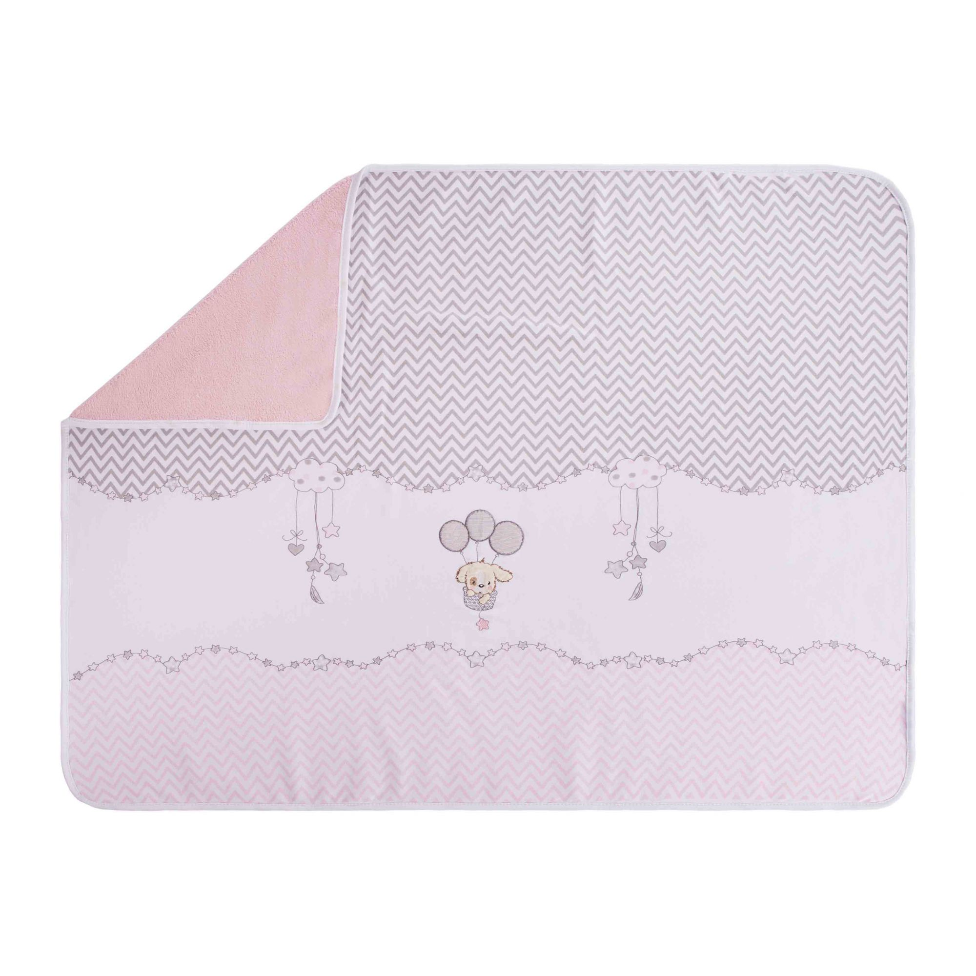 MANTA BABY FLEECE CACHORRINHO ROSA