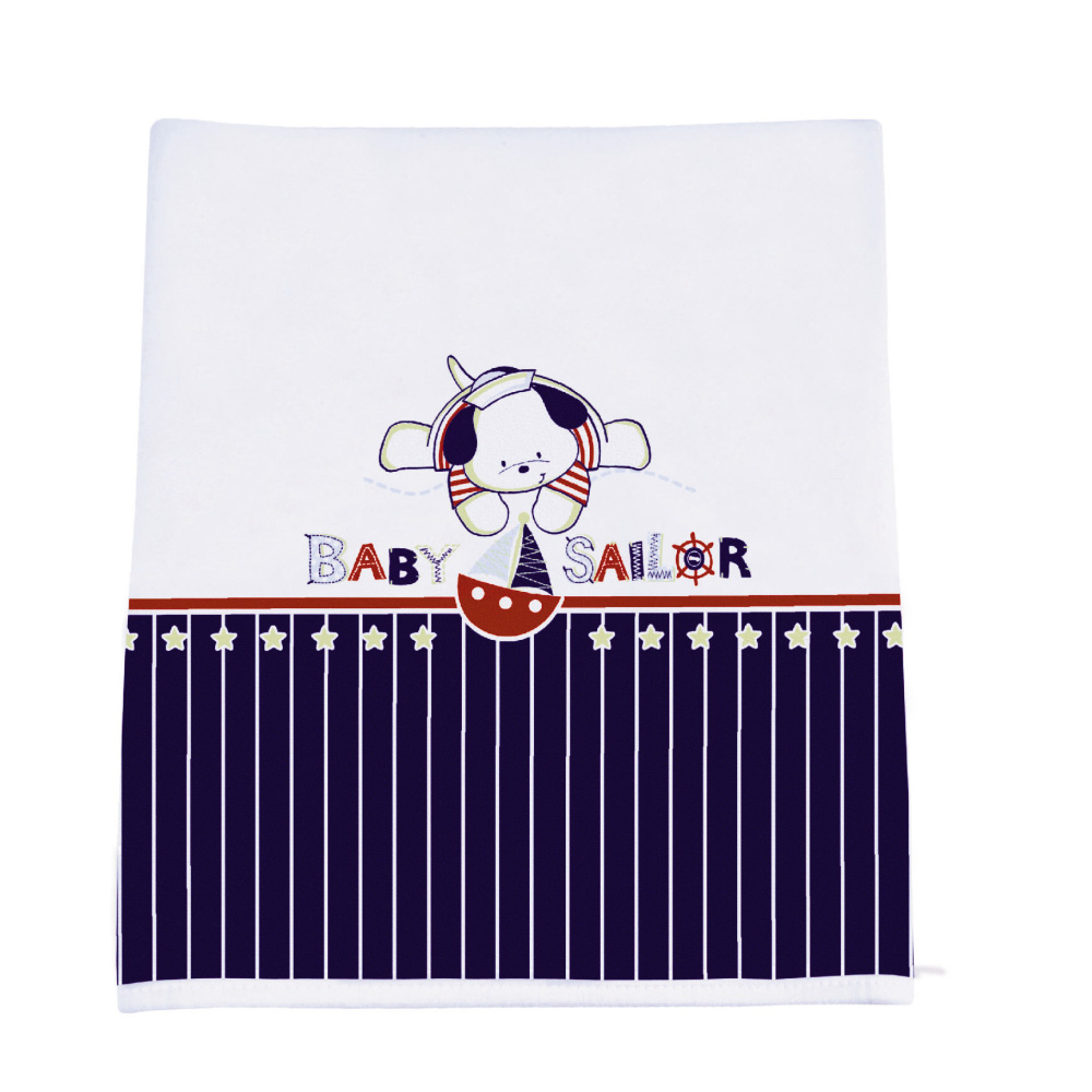 MANTA MALHA ESTAMPADA BABY SAILOR