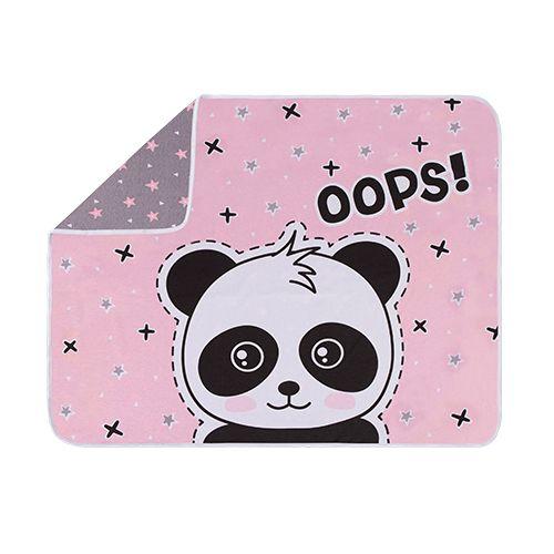 Manta Estampada Panda Rosa