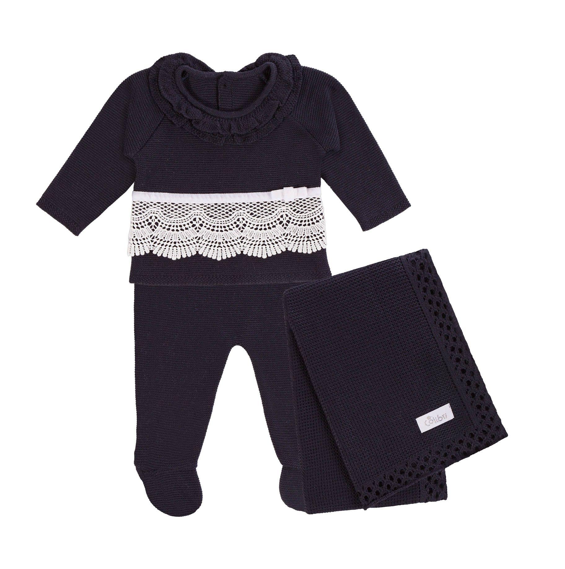 Saída Maternidade Blusa e Calça Guipir 3 Peças