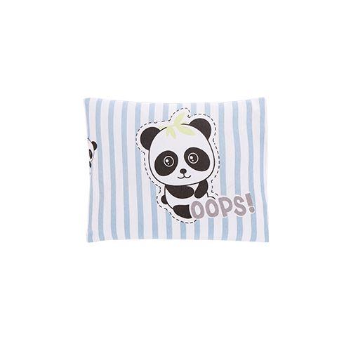 Travesseiro Com Fronha Estampada Panda Azul