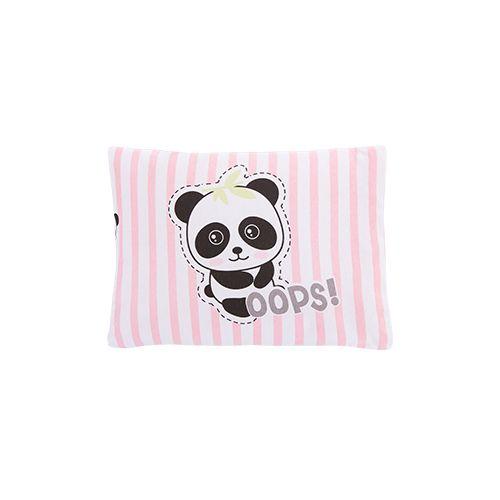 Travesseiro Com Fronha Estampada Panda Rosa