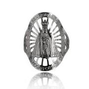 Anel Nossa Senhora Aparecida com Detalhes Vazados Folheado a Prata 1000
