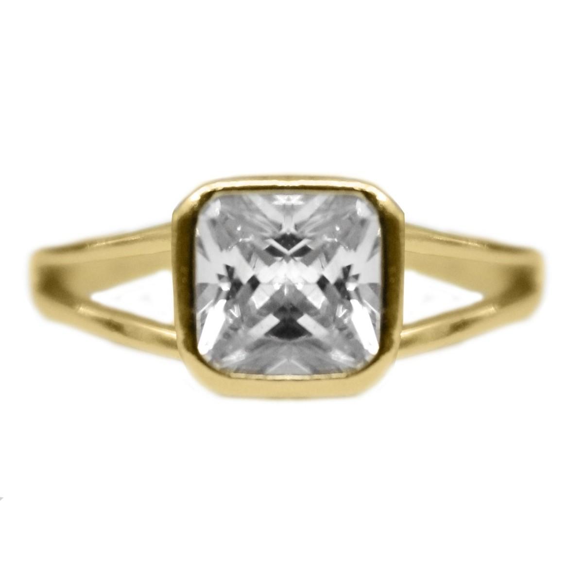 4eadd5e8f4ec0 produtos detalhes anel adornado com uma zirconia cristal em brilhantes  banho ouro 18k tamanho 19 1anl000 - Busca na Lunozê Joias