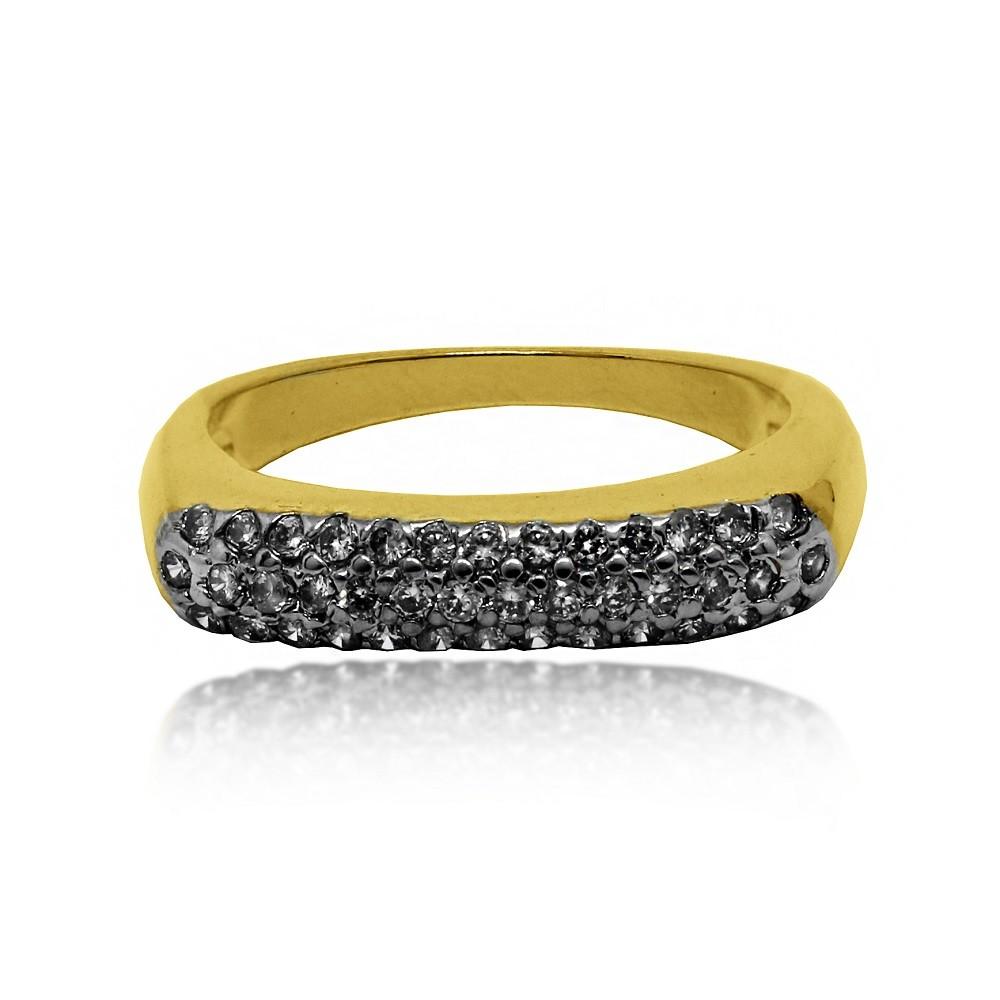 aneis aparador de alianca fino com 1 filete de strass folheado a ouro 18k -  Busca na Lunozê Joias 09340b3050