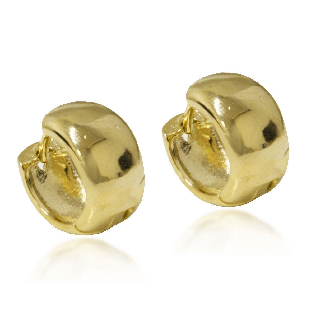 Brinco Argola Pequena com Articulação Folheado Ouro 18k - Lunozê Joias a548df7c37