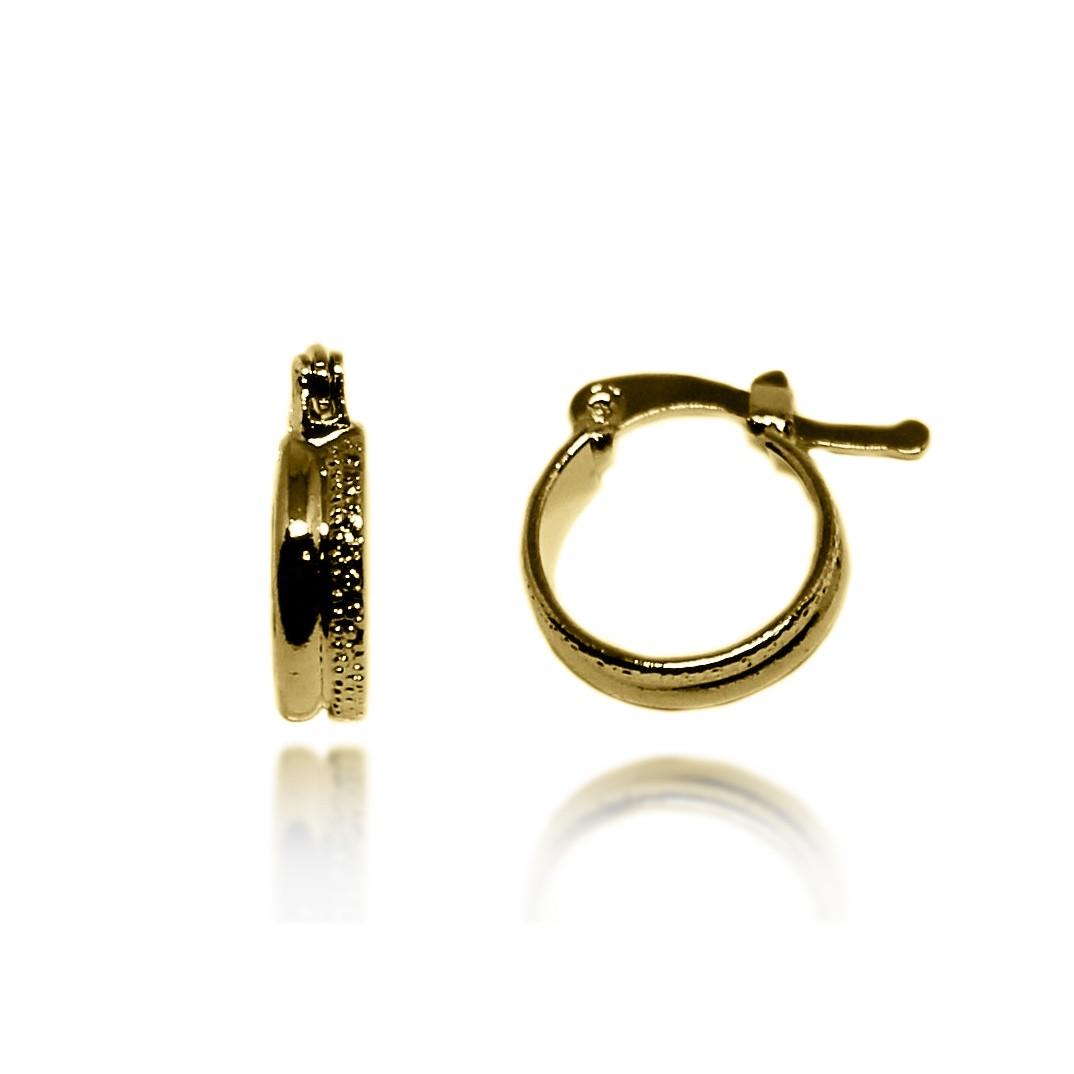 Brinco Argola Pequena Detalhe Texturizado Folheado Ouro 18k - Lunozê ... 855bb3e658