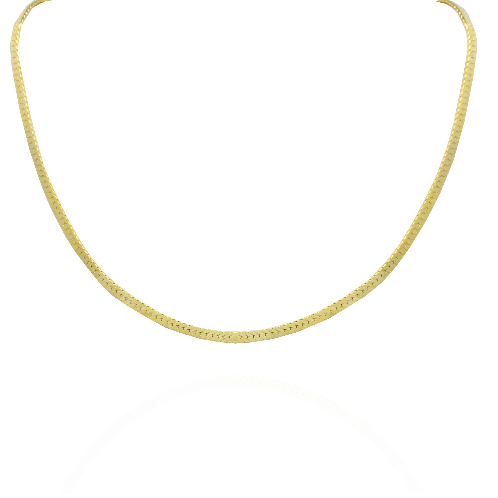 Colar Malha Serpente Folheado Ouro 18k - Lunozê Joias eec8d197db