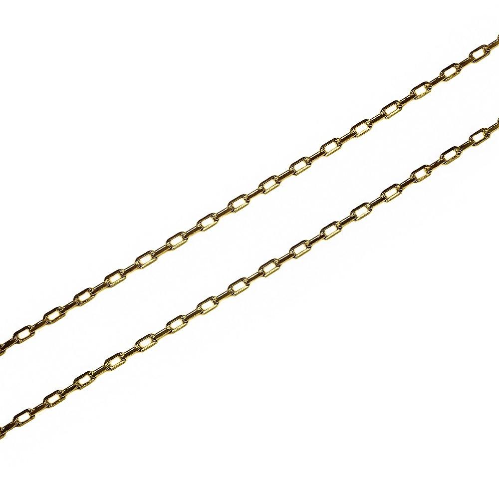 Corrente Malha Cartier 60cm Folheada a Ouro 18k