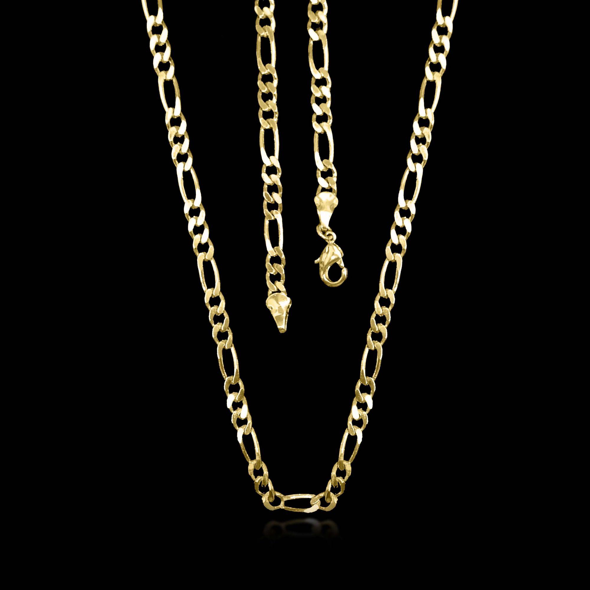 3a1e496ee11df Corrente Masculina 3x1 60 cm 0,3 mm Folheado Ouro 18k - Lunozê Joias