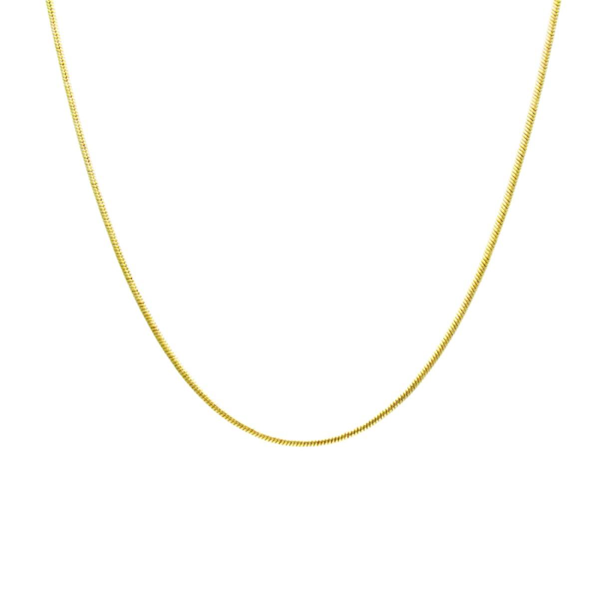 Corrente Feminina Rabo de Rato Lisa 45 cm Folheado Ouro 18k