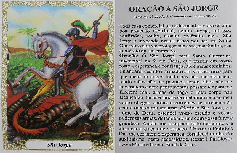 Escapulário São Jorge Colorido  60cm Aço Inox