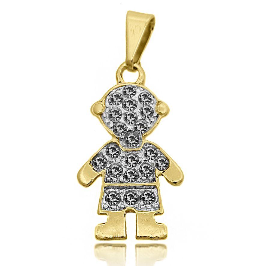 produtos detalhes pingente de menina cravejada com strass folheado a ouro -  Busca na Lunozê Joias 81bb7c362f315