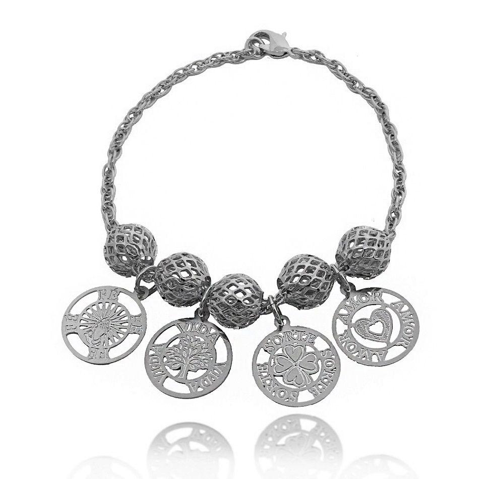 a2eaa1fa3c5 pulseira dez mandamentos folheada a prata 1000 html - Promoções - Marca   Lunozê - Página 2 - Busca na Lunozê Joias