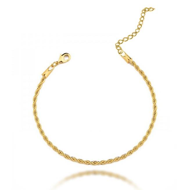 Pulseira Cordão Baiano Folheado a Ouro 18k - Lunozê Joias 54061d4425