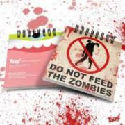 Bloco de Anotações Do not feed the Zombies