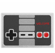 Capacho em Vinil Gamer Joystick Retrô