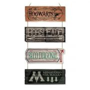 Placa MDF Lugares Mágicos - Harry Potter