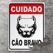 Placa mordida Cuidado Cao Bravo