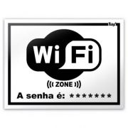 Placa - WiFi Zone - 20 x 15 cm