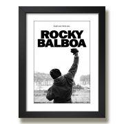 Quadro com moldura - Rocky balboa - 33 X 43 cm