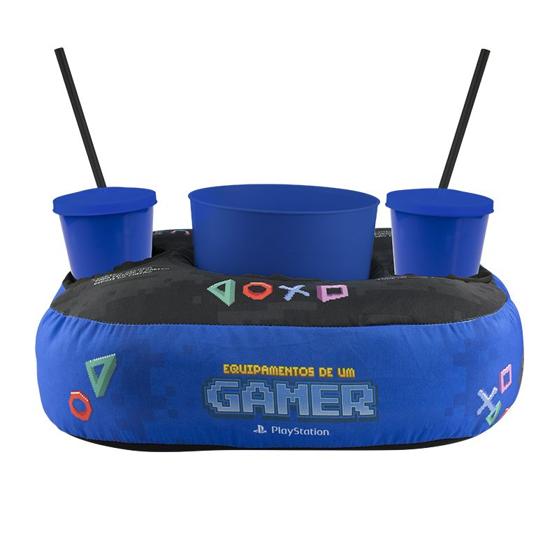 Almofada Porta Pipoca - Playstation Pixel
