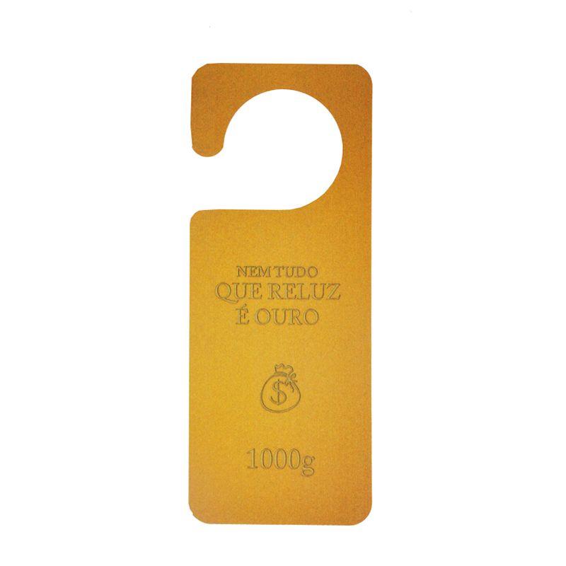 Aviso de Porta - Barra de Ouro