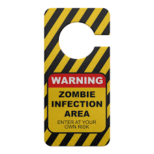 Aviso de Porta Ecológico Zombie Infection