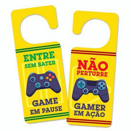 Aviso de porta Gamer em Ação