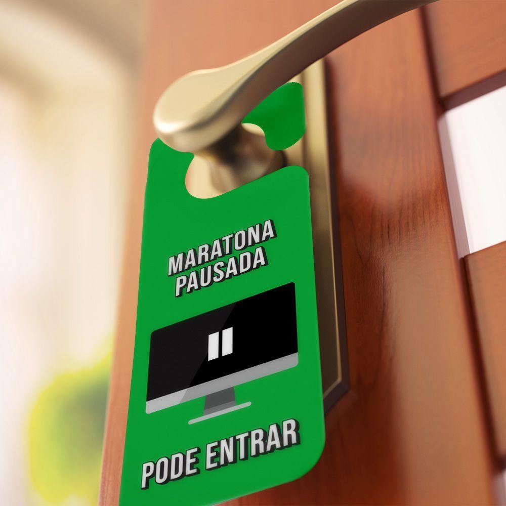 Aviso de porta Maratona Nerds
