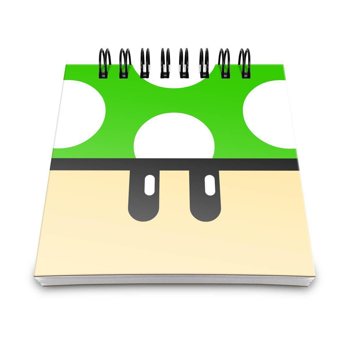 Bloco de Anotações Cogumelo Verde