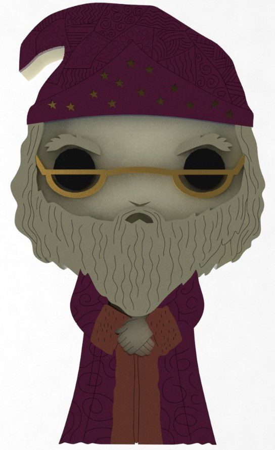 Boneco Dumbledore Harry Potter MDF