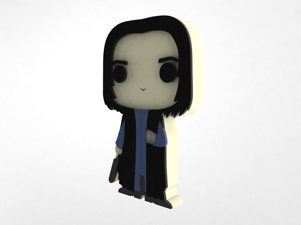 Boneco Snape Harry Potter MDF