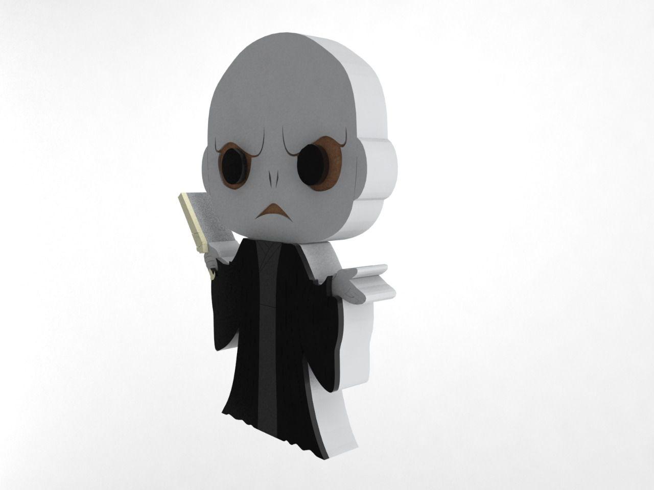 Boneco Voldemort Harry Potter MDF