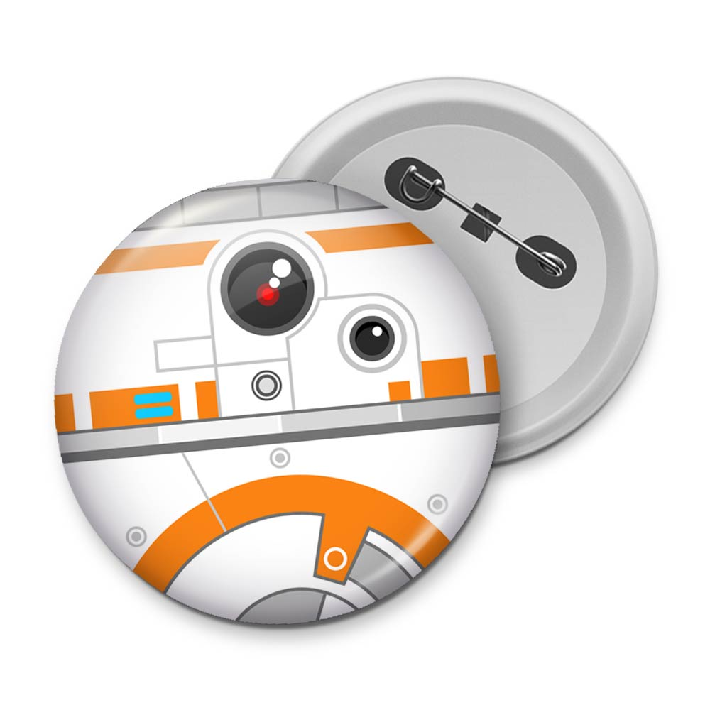 Botton Geek Side Faces- BB 8