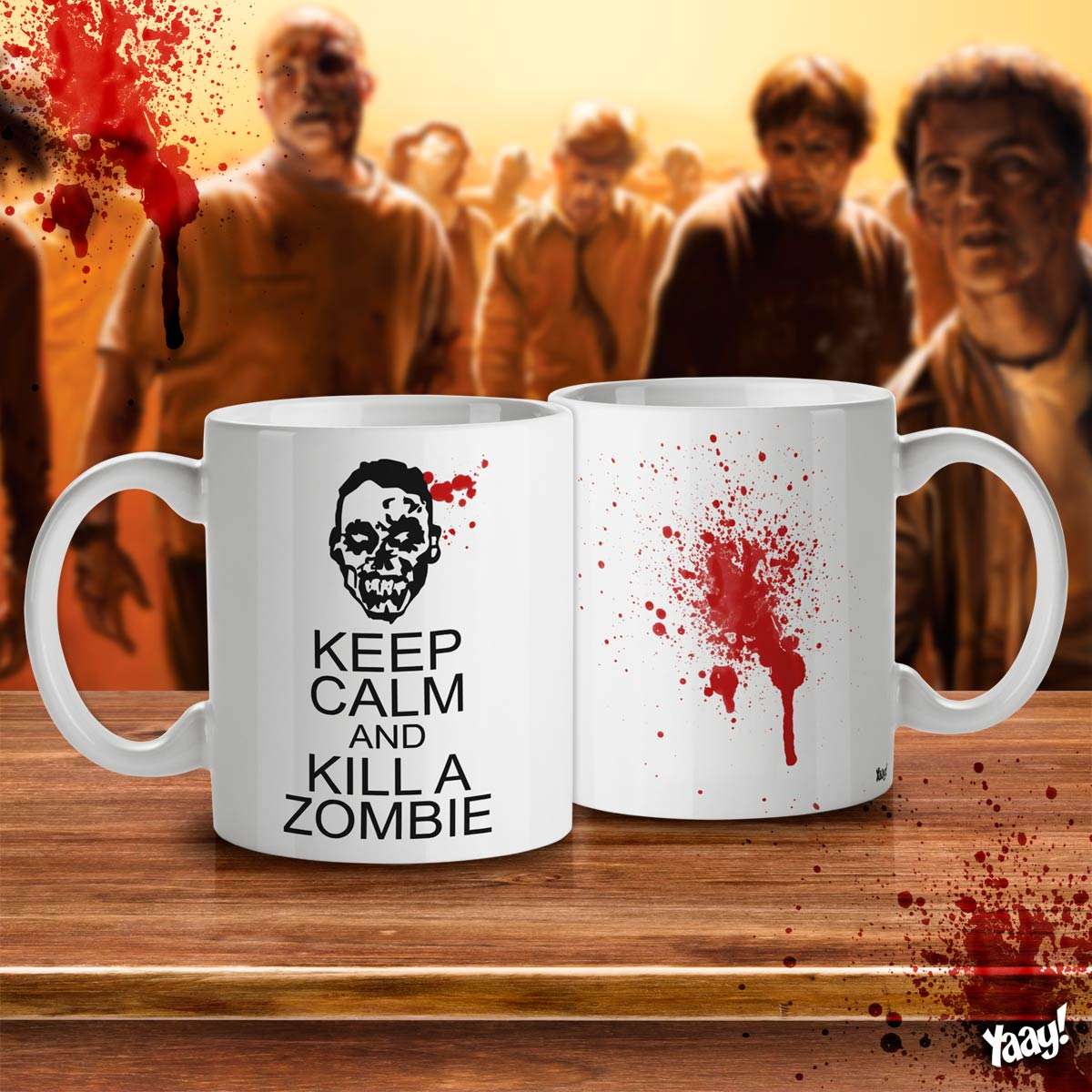 Caneca Keep Calm and kill a Zombie