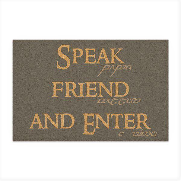 Capacho Speak Friend - Senhor dos aneis