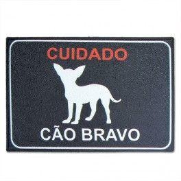 Capacho Vinil - Cão Bravo