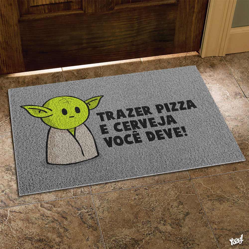 Capacho Vinil Star Wars Mestre Mini Yoda
