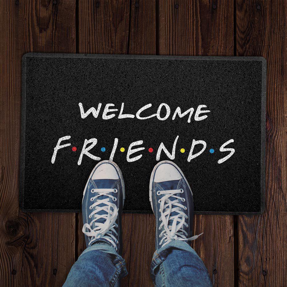 Capacho Welcome Friends (Preto)