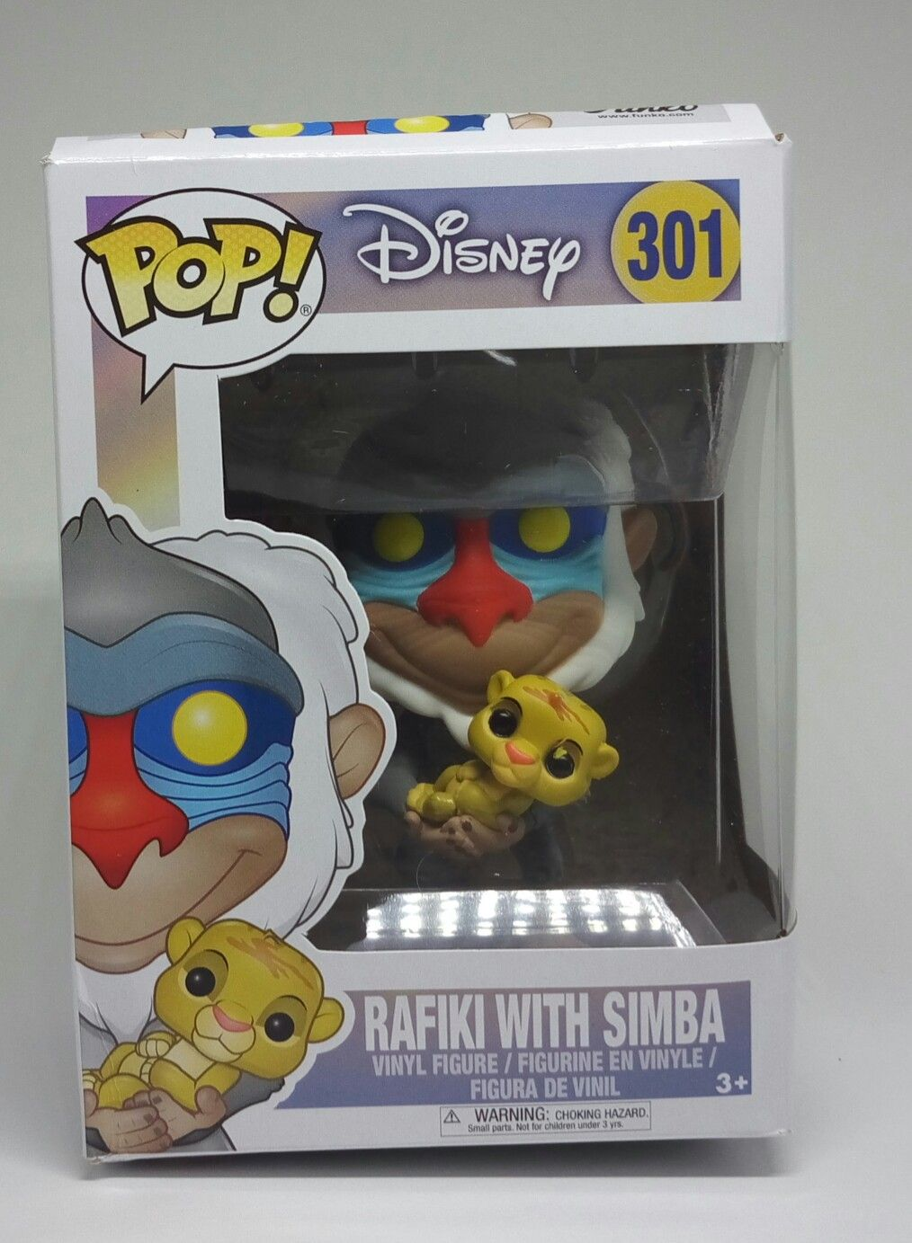 Funko POP - Disney - Rafiki With Simba (Caixa Amassada)