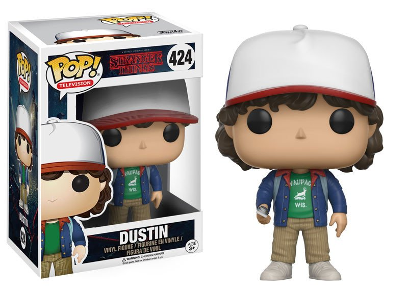 Funko POP - Stranger Things - Dustin (Caixa Amassada)
