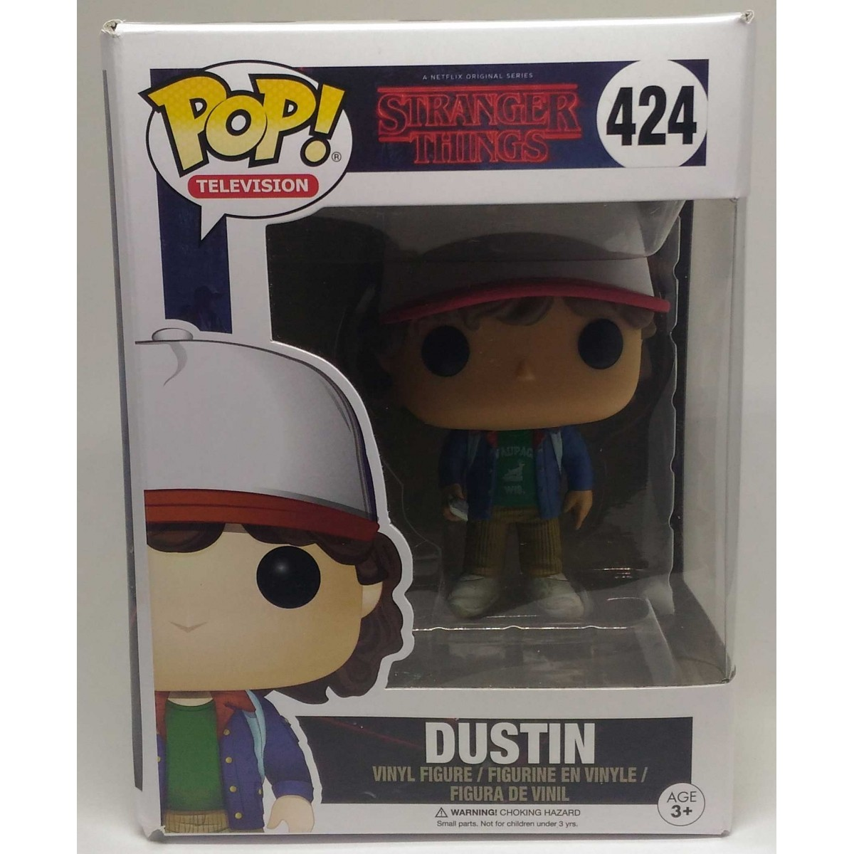 Funko POP - Stranger Things - Dustin (Caixa Amassada)