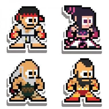 Imãs Street Fighter Kit H 8-bit