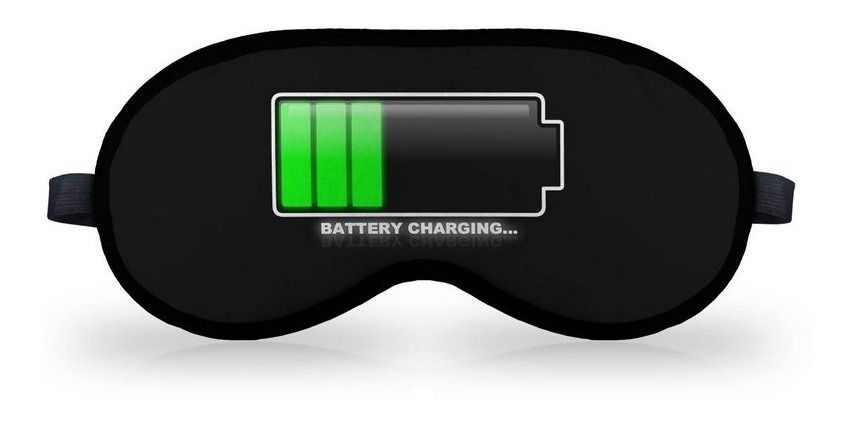 Mascara de Dormir em neoprene - Battery Charging