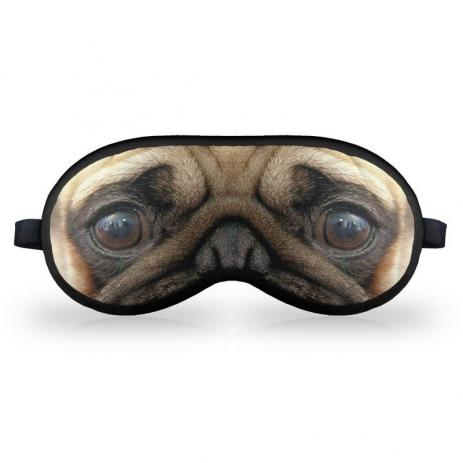 Mascara de Dormir em neoprene - Caozinho Pug