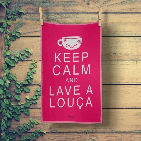 Pano de Prato Keep Calm and Lave a Louca