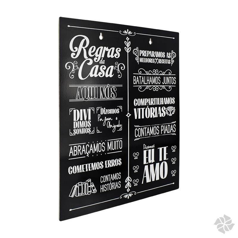 Placa de Parede - Regras da Casa