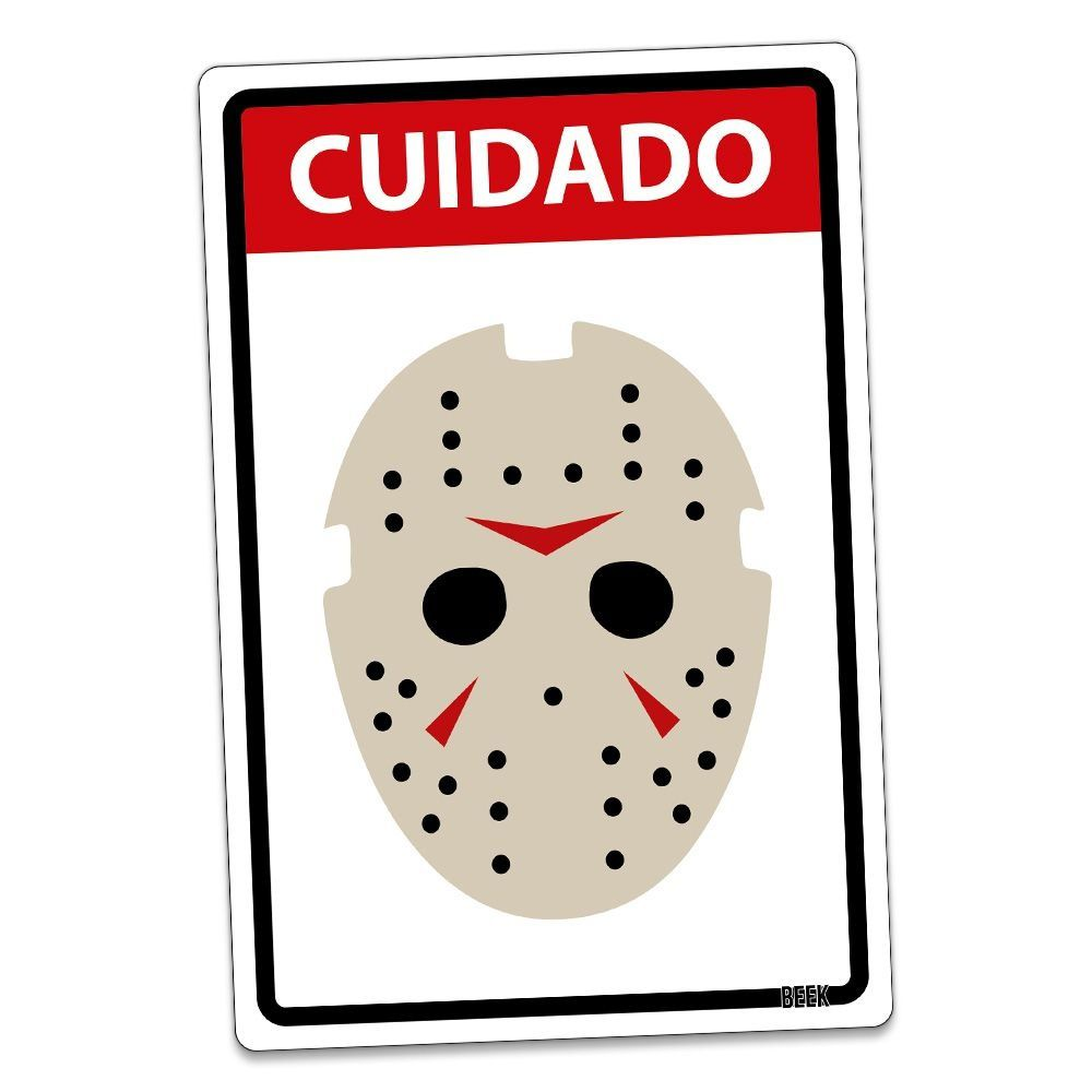 Placa Decorativa HALLOWEEN Cuidado Assassino